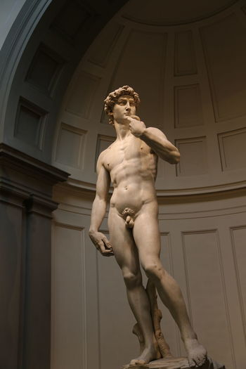 David Florence Italy Accademia Architecture Built Structure Day Human Representation Indoors  Low Angle View Michelangelo's David No People Renaissance Sculpture Statue