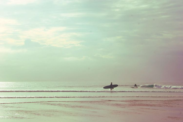 Wishing I could surf. Surf Sea Water Beach Horizon Over Water Acidtrip Byronbay