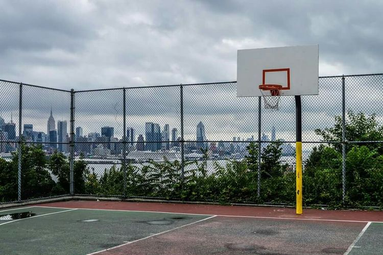 Hidden Gems  Blvd East Nyskyline Love And Basketball Basketball Court Street Basketball Concrete Jungle Photography Views From New Jersey photo by Epok84