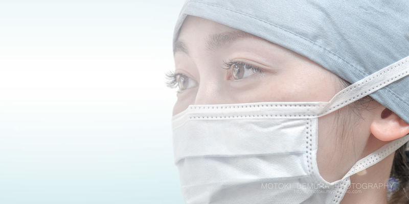 Doctor  Adult Adults Only Close-up Day Headshot Hospital Human Body Part Human Face One Person One Woman Only One Young Woman Only Only Women People Studio Shot Surgeon Surgical Mask White Background Wrapped Young Adult Young Women