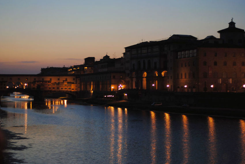 Architecture Built Structure Canal City City Life City Life Citylights Florence Illuminated Nature Night No People Outdoors Reflection River Scenics Sky Standing Water Summer Nights Sunset Town Tranquility Travel Destinations Water