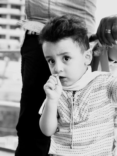 Portrait of innocent boy