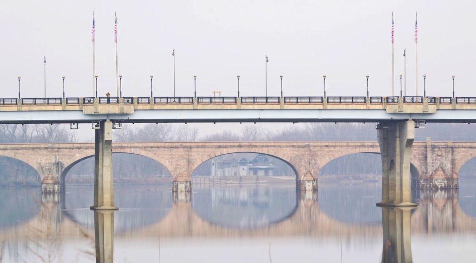 View of bridges over connecticut river