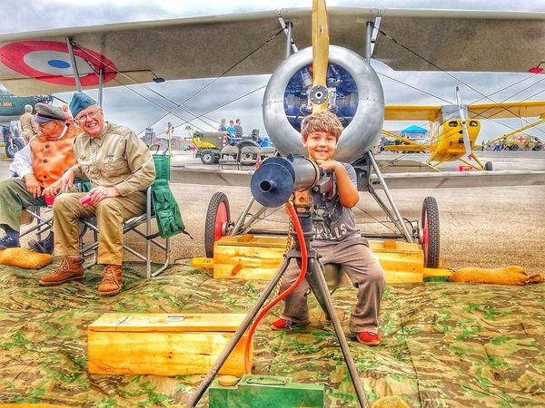 ww1 history Guns Planes History Ww1 Biplane Veteran Smiles Beatiful Responsibility History Childhood Full Length Multi Colored Boys