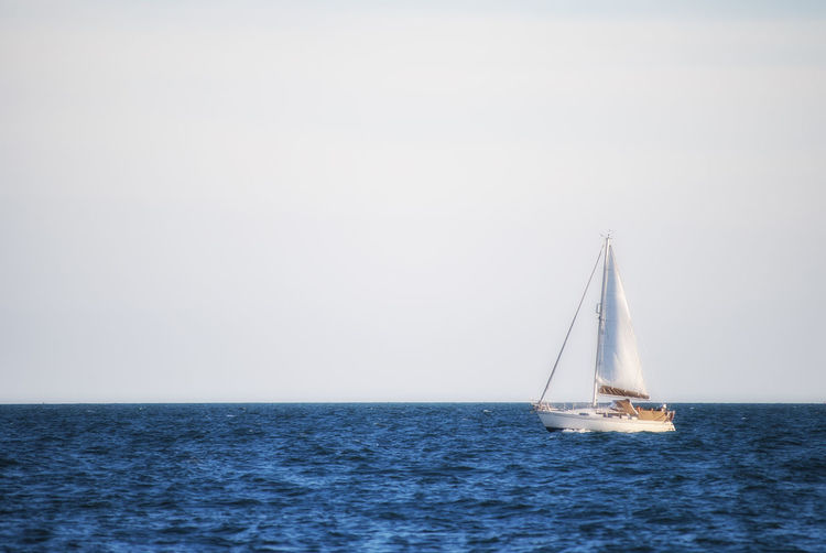 Out for a sail Yachting Sailing Boat Sailboat Sea Water Sky Waves Solent The Solent Southsea Portsmouth Hampshire  England Sailing Ship Nautical Vessel Yachting Sailing Water Sea Yacht Sailboat