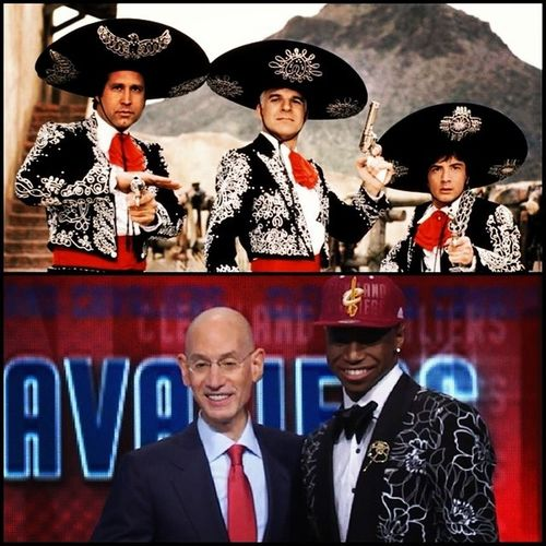 With the number one pick in the 2014NBADraft , the Cleveland Cavaliers select AndrewWiggins the FourthAmigo