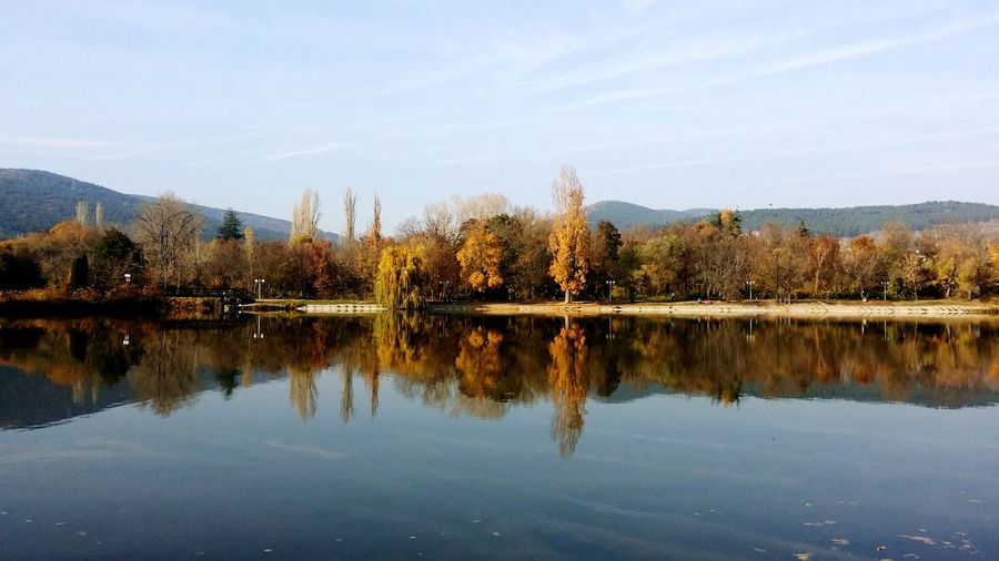 Water Lake Mountain Tree Reflection Waterfront Tranquil Scene Tranquility Calm Beauty In Nature Sky Nature Majestic Non-urban Scene Growth Remote Bulgaria Blue Water_collection Water Reflections Water Reflection Autumn Collection Autumn Season  Seasonisopen