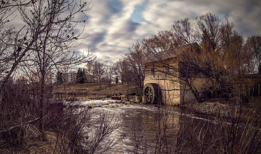 Watermill Old Watermill  Long Exposure Flowing Water Sunset HDR Winnipeg Manitoba Canada Winnipeg Canada
