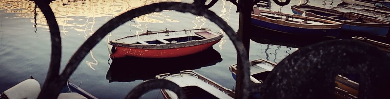 Tranquility Water Reflections Transportation Gondola - Traditional Boat No People Day Relaxing Time Dreaming Of Summer Travel In Naples Italy Another Dimension Looking Through Silent Moment Waiting For Someone Waiting For Summer