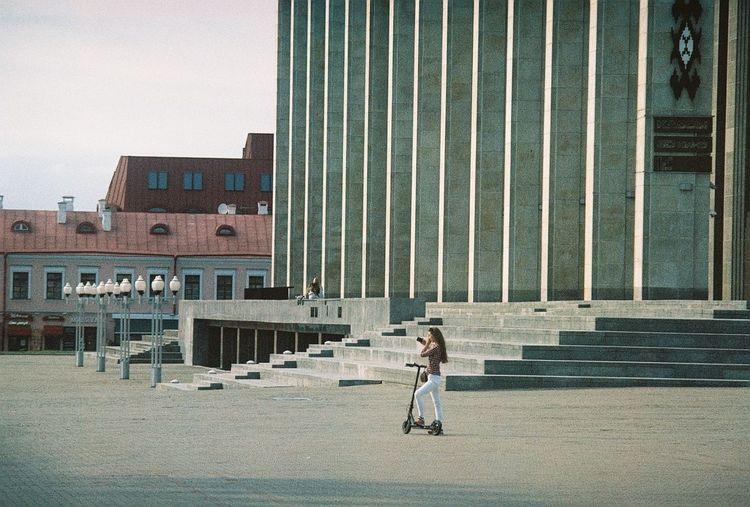 Minsk Filmisnotdead Film Photography Olympus OM-1 Agfaapx100 Architecture Belarus City Minsk,Belarus