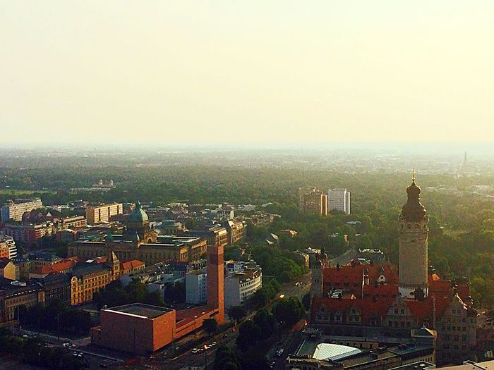 Over The Roofs Tower From My Point Of View Enjoying The View @ Leipzig