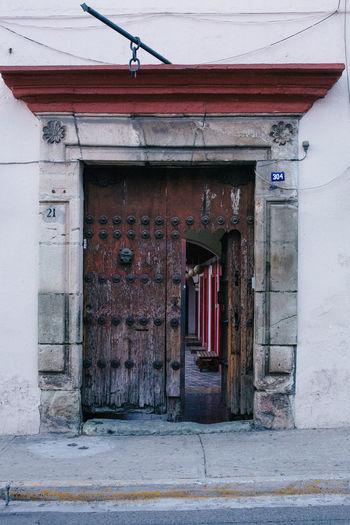 Doors Oaxaca Architecture Door Doors With Stories Entrance House Old Wood - Material