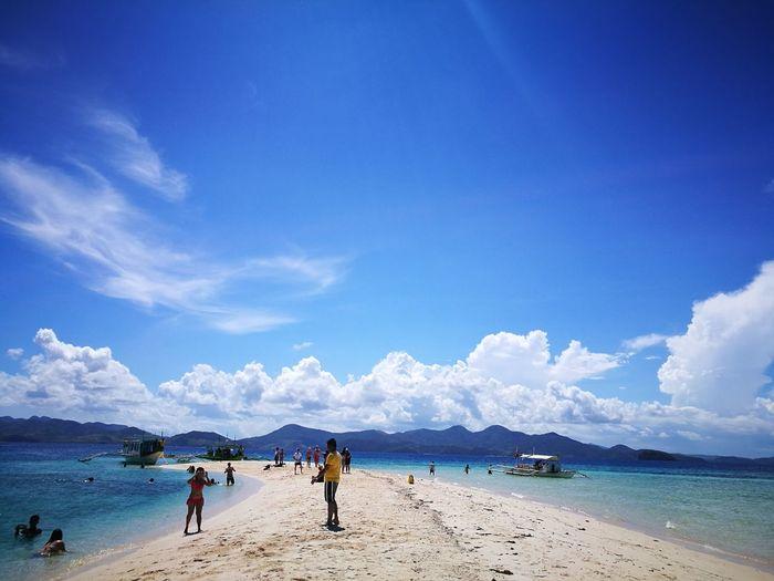 sandbar at Coron, Palawan Sandbar Clear Skies Low Tide Barrier Between Seas