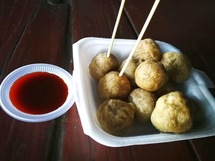 Food And Drink No People Indoors Delicious Bowl Food Ready-to-eat Lekor Cheesy Balls Terengganu Malaysia Fish Balls