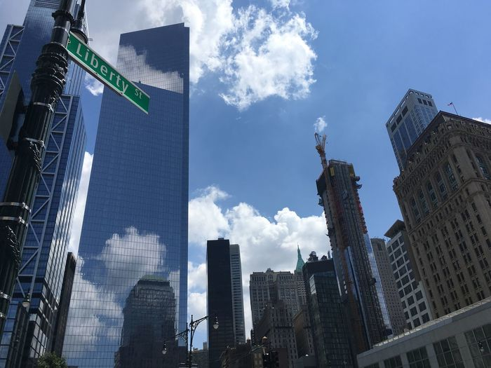 Liberty street Bluesky Beautiful Weather♡ Liberty Street New York City