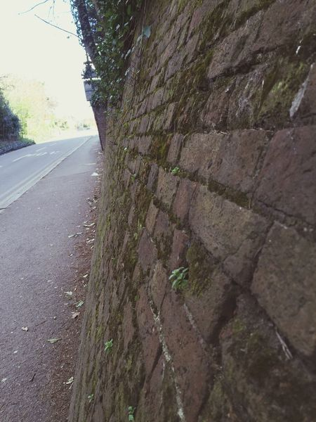 On My Way Light At The End Road Wall Brick Wall Way Ahead Walking Walk This Way Springtime Spring Sunny Day