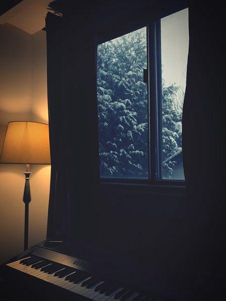 Winter Snow Piano Home Comfy
