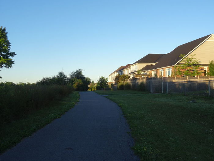 Morning walk Architecture Built Structure Clear Sky Day Grass No People Ontario, Canada Outdoors Sky Sunrise Tree