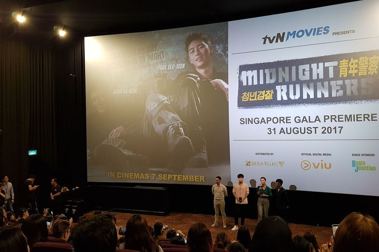 Midnight Runners (Park Seo Joon and) Kang Ha-neul Gala Premier 31 August 2017 Movie Preview Singapore