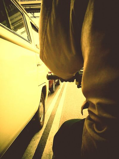 Long way back home with my father. Tags: EyeEmNewHere Transportations Retrospective Roadlife INDONESIA