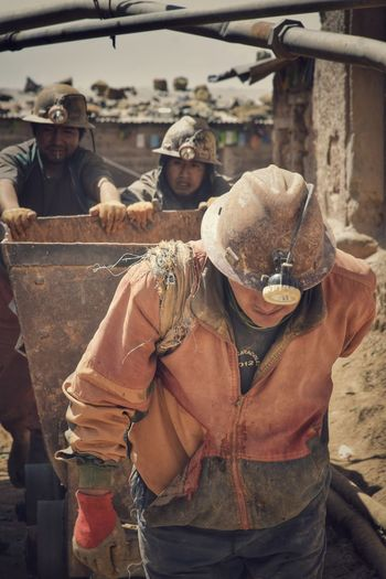 Only Men Working Metal Industry Cerro Rico De Potosí EyeEmNewHere Third World Miners The Photojournalist - 2017 EyeEm Awards Men At Work