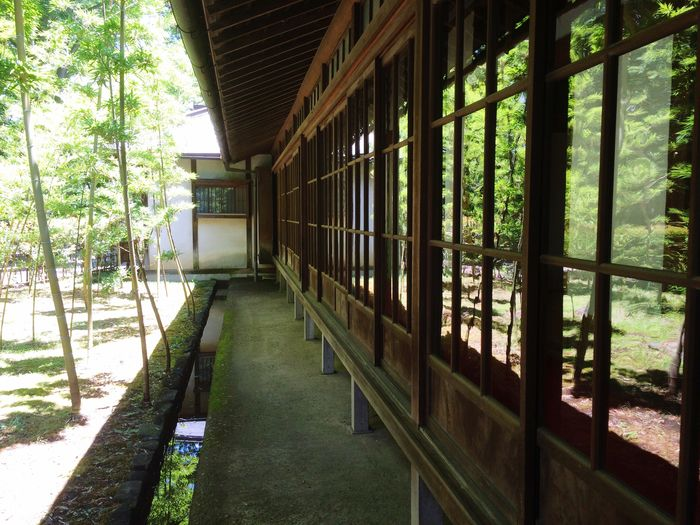 Built structure with trees in background
