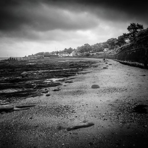 Cultra Moody Sky Blackandwhite Northern Ireland Belfast Lough The Tide Is Out
