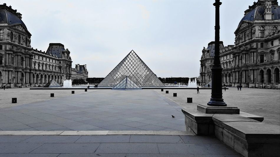 Pyramid Architecture Paris Louvre