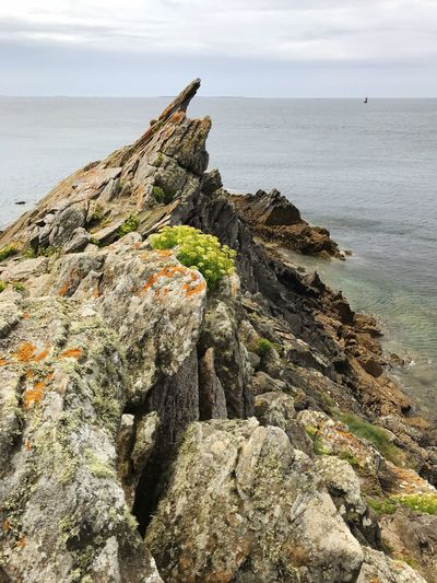 Finistere Le Conquet Sea Rock - Object Nature Rock Formation Tranquility Scenics Beauty In Nature Tranquil Scene Horizon Over Water Water Sky Day No People Outdoors Beach Cloud - Sky Cliff Ocean