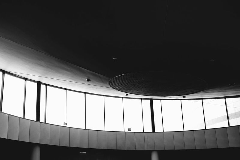 The roof of The Helix at Dublin City University feels like it's straight out of the film Gattaca. Shades Of Grey Architecture Science Fiction Roof Glass Dublin Ceiling Window Helix Black And White Interior Views The Architect - 2016 EyeEm Awards Monochrome Photography Welcome To Black