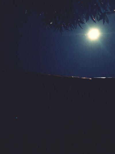 Mi luna!!!! Night Beauty In Nature Sky Tranquility Astronomy Peru Cerroazul Moon Half Moon Beach