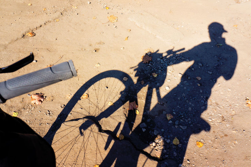 Cyclist Driver Happy Life Man Bike Cicling Cycling Human Body Part Lifestyles Men Outdoors Real People Sand Shadow