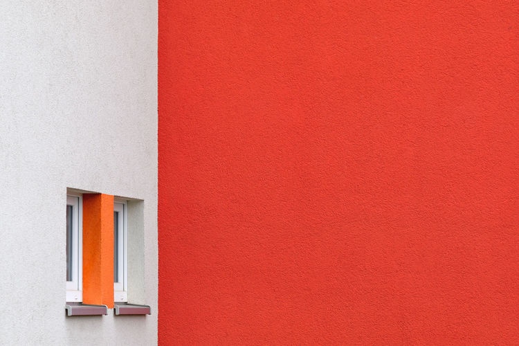 Close-up of orange wall