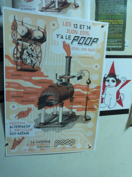 http://poop.leloop.org Les 13 & 14 juin y'a le Poop2015 à la caserne 20 rue de Reuilly Paris 12èm... DIY Crypto Féminisme Serigraphie Lockpicking Vegan Hack ...