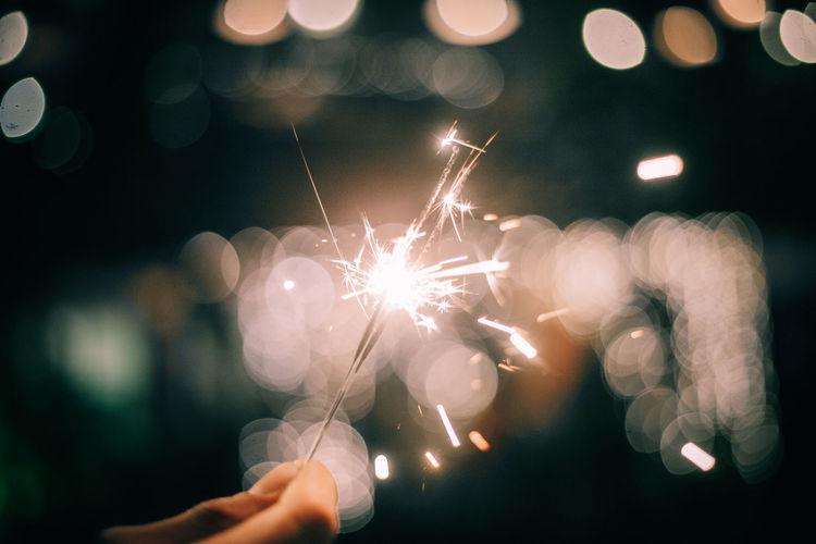 Sparklers light