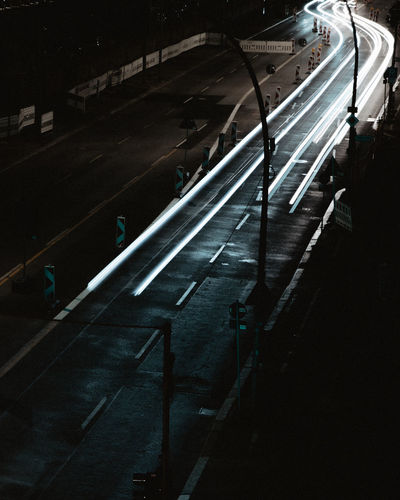 Long exposure of a road with cars