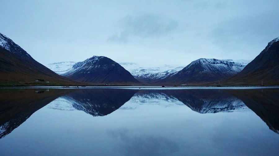 Iceland EyeEm Selects Water Mountain Symmetry Lake Reflection Standing Water Sky Landscape Cloud - Sky Reflecting Pool