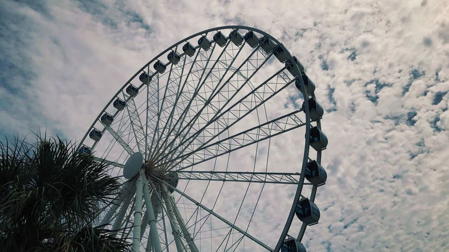 beauty in simplicity Day Ferris Wheel Outdoors Nature Sky Low Angle View No People Cloud - Sky First Eyeem Photo