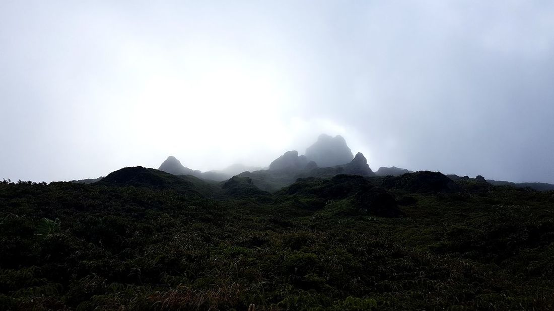 Mountain Landscape Nature Outdoors Fog Cloud - Sky Beauty In Nature Sky Soufriere Gwada  Gwadeloupe Guadeloupe Hell Adventure Rock