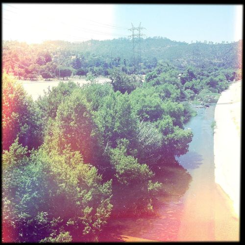 Walking over the bridge. To the LA river