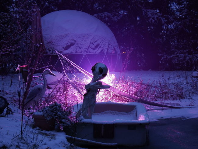 Ice fisherman from another world Extraterrestrial  Boat Cold Temperature Fishnet Iglove Night Outdoors Snow Winter