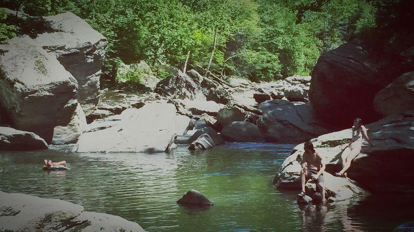Swimming Hole Boulders Rocks River North Carolina USA Watauga County Boone