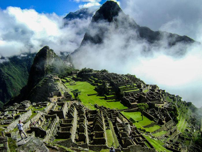Beautiful Blue Sky White Clouds Cusco Dream Holiday Epic Epic Landscapes Inca Trail Lush Green Machu Picchu Mountains Peru Relaxing View