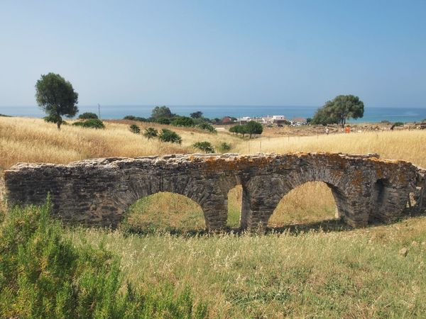 Ruins of the Roman city Baelo Claudia - Aquaeduct Andalucía Nature No People Sky Tranquility Landscape Sea Outdoors Roman Ruins Baelo Claudia Historical Place Archeological Site Capture The Moment Tadaa Community Just Photography Enjoying Life The Places I've Been Today Beauty In Nature See The World Architecture Ancient Civilization Travel Destinations Summer Vacations SPAIN Grass Day Field Clear Sky Tree