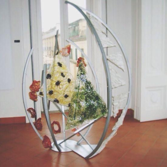 Abstract Glass Art  Enjoying Life Self Portrait Glass art