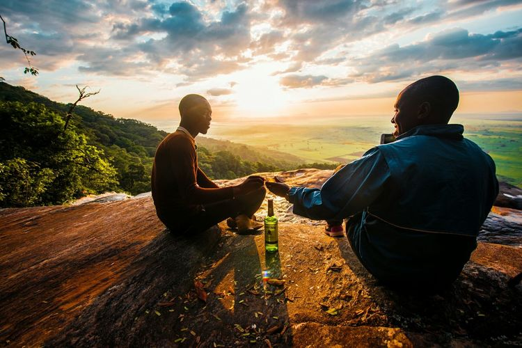 Two People Sunset Togetherness Landscape Friendship Vacations Nature The Great Outdoors - 2017 EyeEm Awards Beautiful Adventure Close-up People GoodTimes The Portraitist - 2017 EyeEm Awards The Great Outdoors - 2018 EyeEm Awards