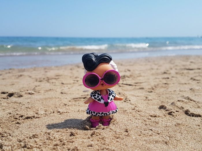 LOL surprise Lol Surprise LOL! Lol :) L.O.L. Doll Childhood Play Sea Beach Wave Water Sand Pink Color Sky Horizon Over Water Close-up Surf Horizon Coast Seascape Calm