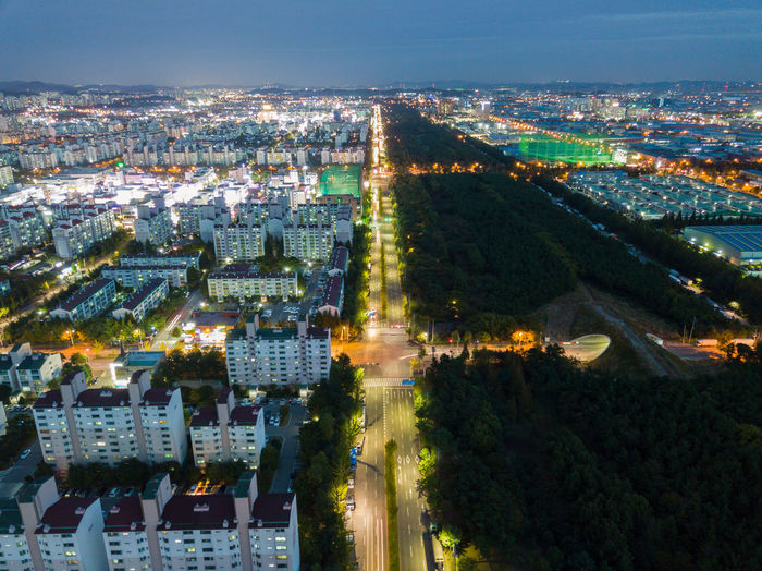 Korea Seoul Travel Aerial View Architecture Building Exterior Built Structure City Cityscape Day High Angle View Illuminated Nature No People Outdoors Sky Tree