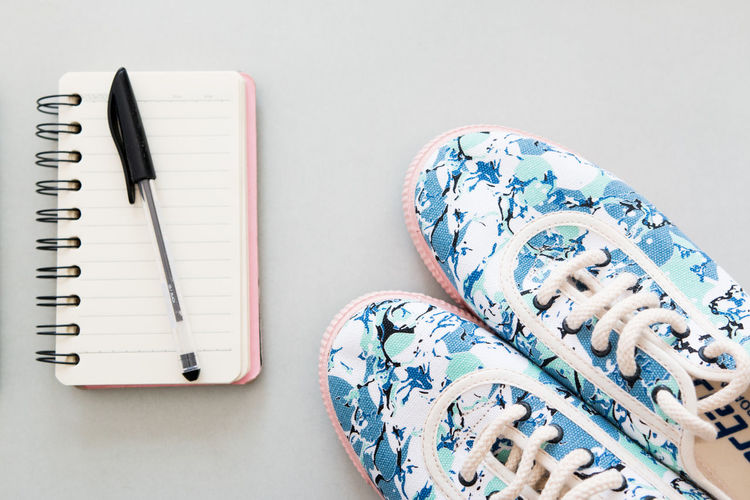Abstract Abstract Sneakers Book Close-up Colors Diary Note Pad Pink Blue Sneakers Sneakerhead  Sneakers Sneakers Addict Sneakers Detail Special Sneaker Spiral Notebook Summer Sneakers Table Women Sneakers