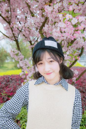 Spring is here!!!( ´・ᴗ・` ) Spring Flowers Sakura That's Me Chengdu Sunny Day Cute Girl Smile Pink